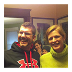 Noel Sufrin with U.S. Ambassador to the U.N., Samantha Power on Thanksgiving 2013
